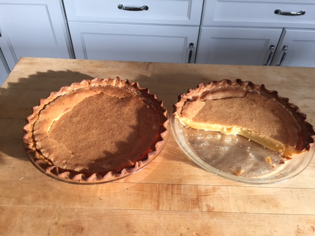 two baked chess pies