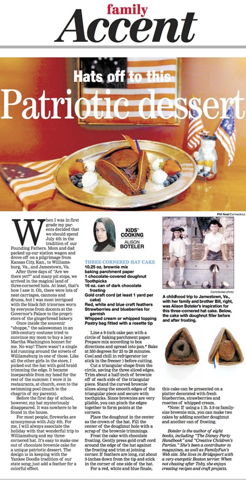 three corner hat cake column July copy