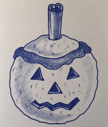 ice cream pumpkin drawing