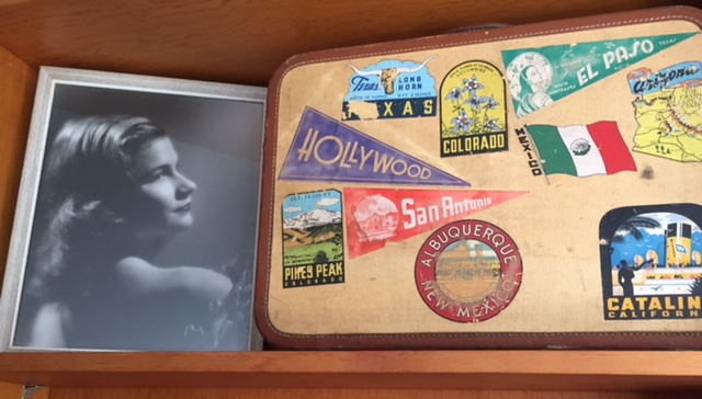 Mom and Hollywood suitcase
